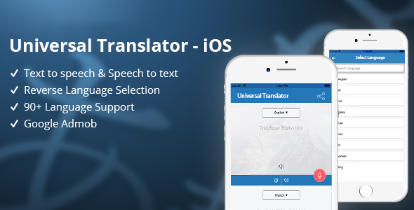 Universal Translator - iOS - CodeCanyon Item for Sale
