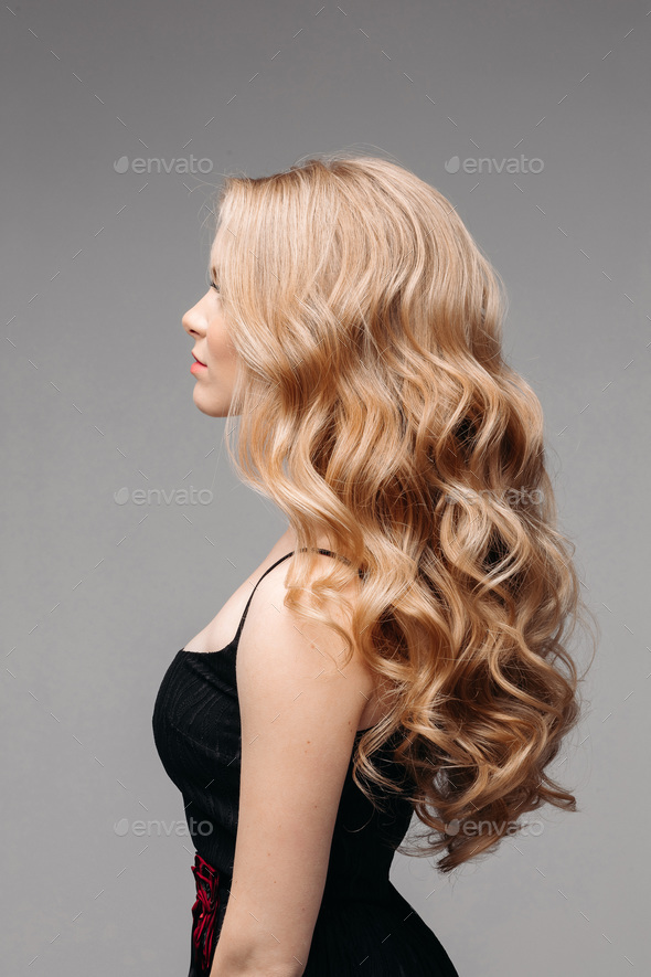 Woman With Perfect Wavy Blonde Hair