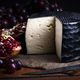 Spanish sheep cheese with grape and other fruit bodegon with classic light on wood - PhotoDune Item for Sale
