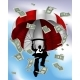 Parachuting Cash Silhouette Business Man - GraphicRiver Item for Sale