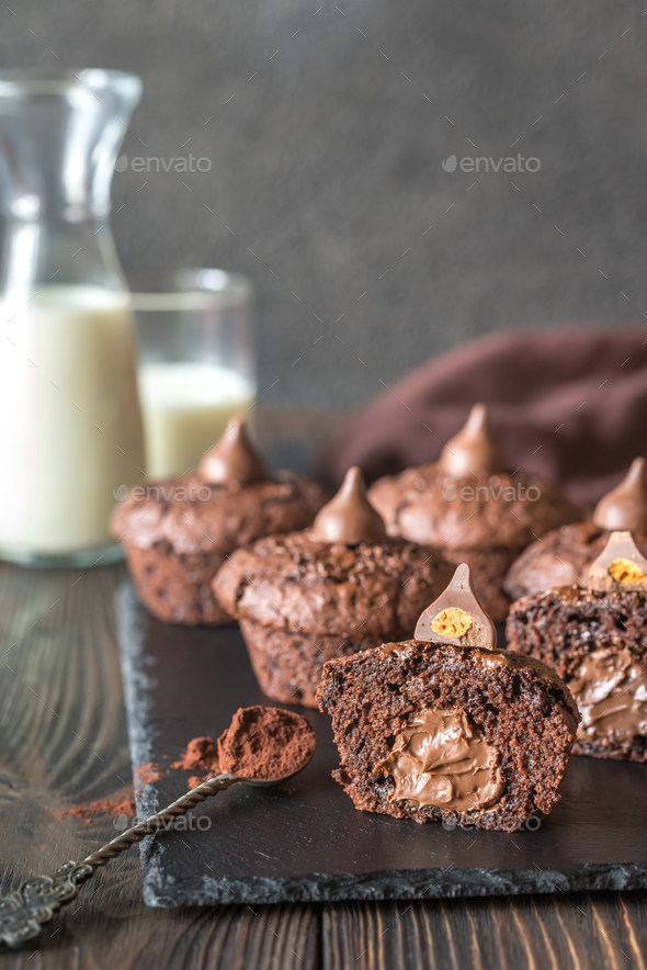 Chocolate muffins - Stock Photo - Images