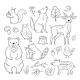 Doodle Forest Animals - GraphicRiver Item for Sale