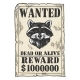 Poster with Raccoon Color Engraving Vector - GraphicRiver Item for Sale