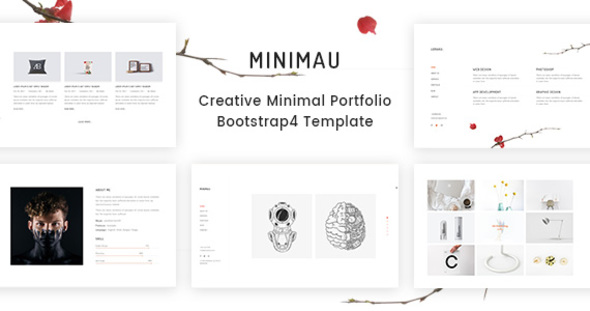 Minimau - Minimal Creative Portfolio HTML Template