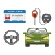 Car Driver License Isolated Icons Set - GraphicRiver Item for Sale