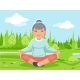 Outdoor Park Nature Fitness Meditation - GraphicRiver Item for Sale