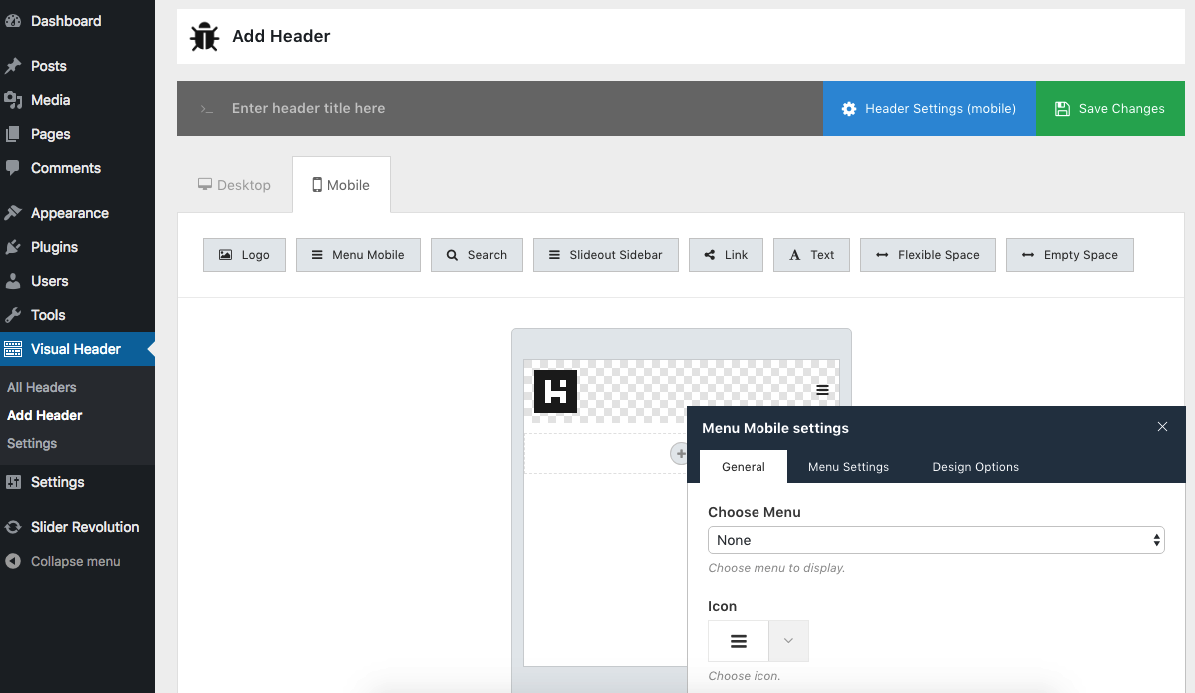 Ultimate Header Builder - Header & MegaMenu Builder for WordPress