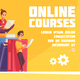 Online Courses Cartoon Advertising - GraphicRiver Item for Sale