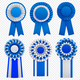 Badges Rosettes Realistic Set - GraphicRiver Item for Sale