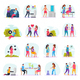 Diseases Transmission Ways Flat Icons - GraphicRiver Item for Sale