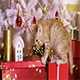 Little Red-Haired Kitten Playing With Christmas Garland - VideoHive Item for Sale