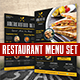 Restaurant Menu Bundle Templates - GraphicRiver Item for Sale