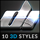10 3D Styles vol. 18 - GraphicRiver Item for Sale