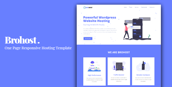 Brohost - One Page Responsive Hosting Template