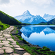 Picturesque view on Bachalpsee lake in Swiss Alps mountains - PhotoDune Item for Sale