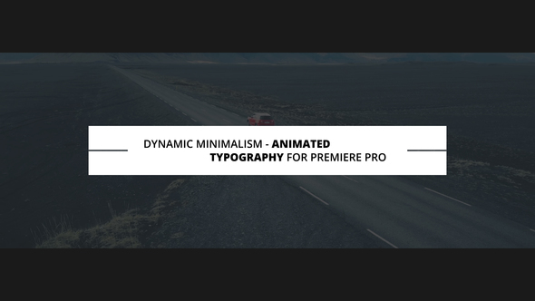 Dynamic Minimalism | Animated Titles for Premiere Pro
