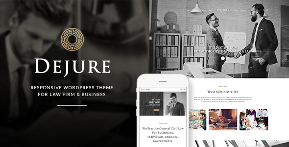 Dejure Responsive WP Theme for Law firm & Business Free Download
