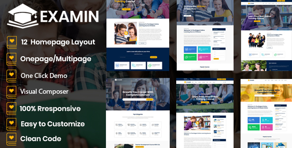 Examin – Education and LMS WP Theme Free Download