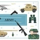 Flat Military and Army Concept - GraphicRiver Item for Sale