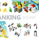 Isometric Banking Elements Set - GraphicRiver Item for Sale
