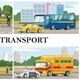 Flat City Transport Composition - GraphicRiver Item for Sale