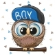 Cartoon Owl in a Cap - GraphicRiver Item for Sale