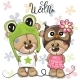 Bears Boy and Girl - GraphicRiver Item for Sale