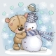 Teddy Bear and a Snowman - GraphicRiver Item for Sale
