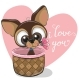 Puppy with Flower - GraphicRiver Item for Sale