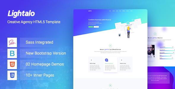Exceptional LightAlo - Creative Agency HTML5 Template