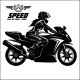 Woman and Sport Motorbike - Monochrome Vector - GraphicRiver Item for Sale