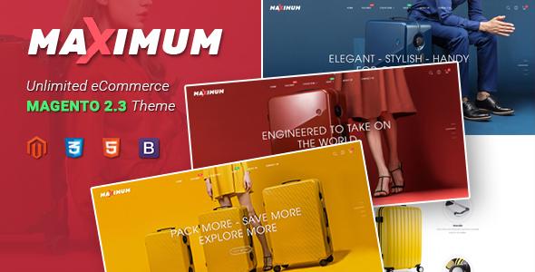 Maximum – Multipurpose Responsive Magento 2 Suitcase Store Theme