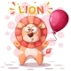 Lion Character - Cartoon Illustration - GraphicRiver Item for Sale