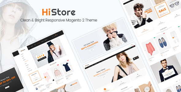 HiStore – Clean and Bright Responsive Magento 2 Theme