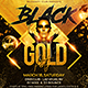 Black Gold Party Flyer - GraphicRiver Item for Sale