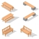 Wooden Benches and a Table - GraphicRiver Item for Sale