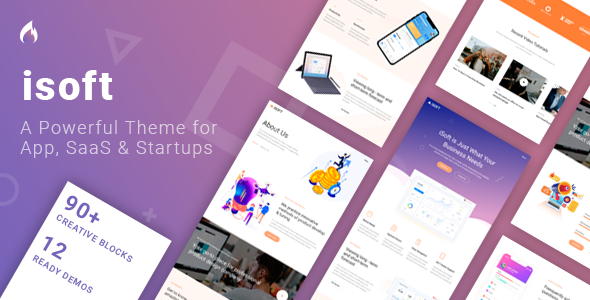 Isoft – Powerful Theme for Saas, App and Startups Free Download