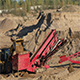 The Heavy Tractor Works in a Sand Quarry - VideoHive Item for Sale