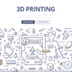 3D Printing Doodle Concept - GraphicRiver Item for Sale