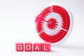 Goal wording with red dart and dartboard - PhotoDune Item for Sale