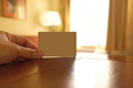Empty white card in a hotel room - PhotoDune Item for Sale