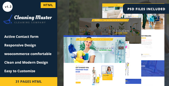 Clening Master - Cleaning Company HTML5 Template