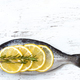 Fresh dorado fish on wooden board - PhotoDune Item for Sale