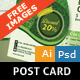 Landscaping and Lawn Post Card Template - GraphicRiver Item for Sale