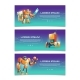 Cybernetic Organisms Cartoon Vector Web Banners - GraphicRiver Item for Sale