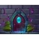 Vector Cartoon Wooden Magic Door Mystery Portal - GraphicRiver Item for Sale