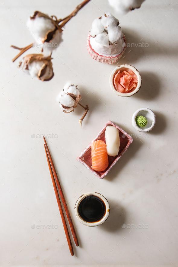Sushi Set nigiri - Stock Photo - Images