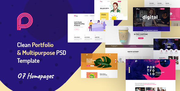 |Picko - Clean Portfolio & Multipurpose PSD Template