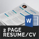 Resume/CV Template (2 Page) - GraphicRiver Item for Sale