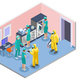 Microbiology Isometric Composition - GraphicRiver Item for Sale